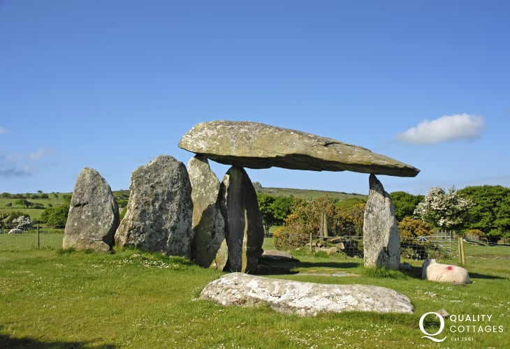 Pentre Ifan - the finest Welsh hilltop megalith dating from at least 4000 B.C.