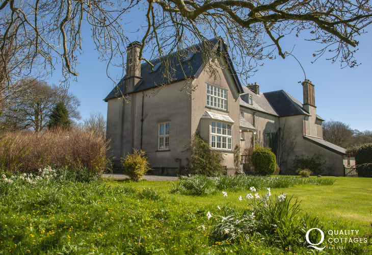 Dog Friendly Gwaun Valley Manor House with large lawn and woodland gardens