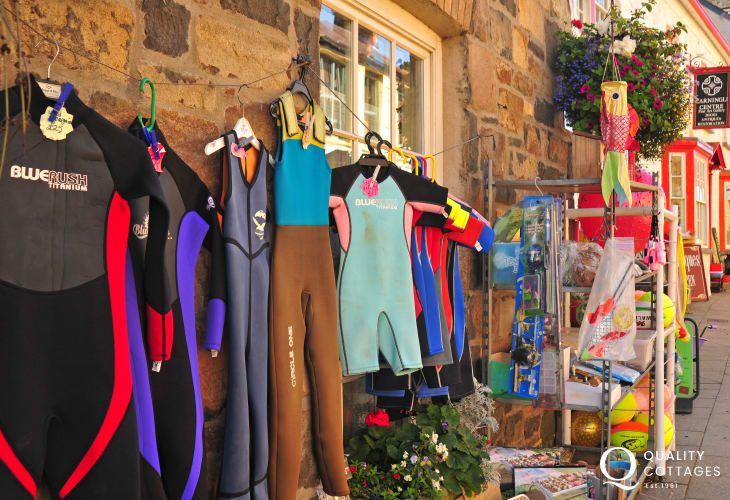 'Havards' stocks everything you might need for your holiday - including wet suits!