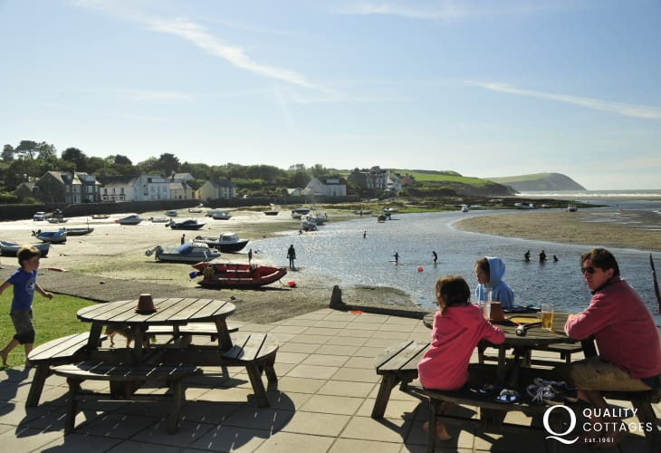 The Parrog, Newport - a lovely spot to enjoy a refreshing drink at the end of a busy day!