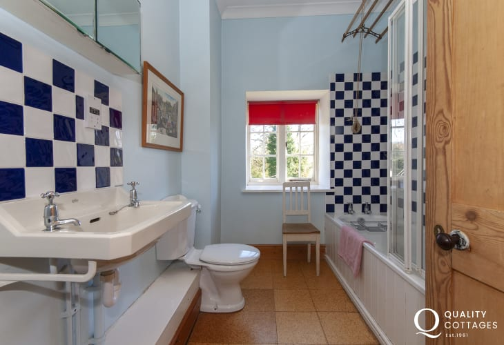 Plas Pontfaen House - family bathroom