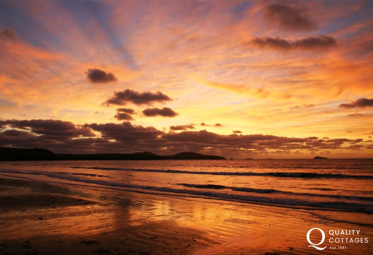 Sunsets Ty Gwyn Farmhouse Pembrokeshire