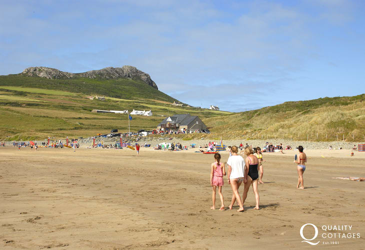 Whitesands (Blue Flag) is one of the finest beaches in Wales
