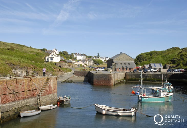 Porthgain - a tiny sheltered harbour village with two art galleries, gift shop, pub and seafood restaurant