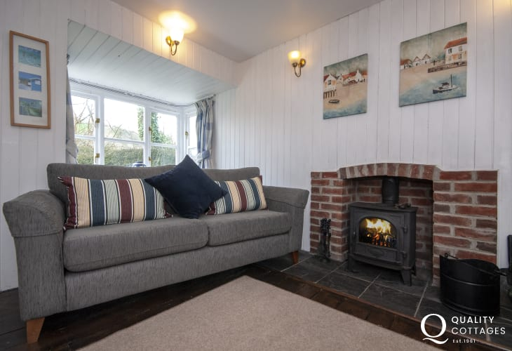 Upper Green, Solva - cosy by the log burning stove