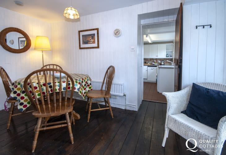 Holiday cottage near Solva - dining area