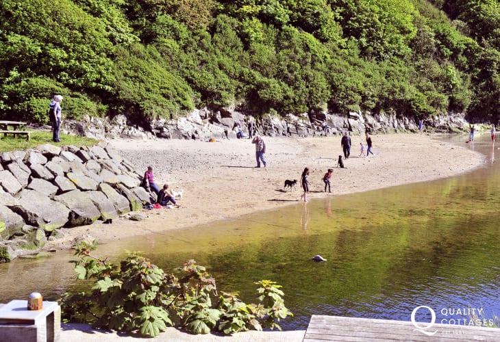 The small sandy foreshore in Lower Solva