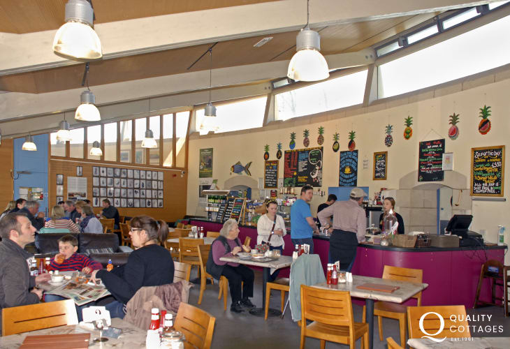 Oriel y Parc Cafe in the National Park Visitor Centre, St Davids is excellent for breakfast, lunch, brunch, drinks and cakes