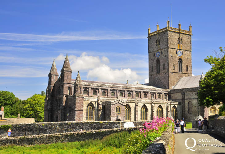St Davids with the magnificent cathedral, individual shops and a variety of places to eat is only a short drive away