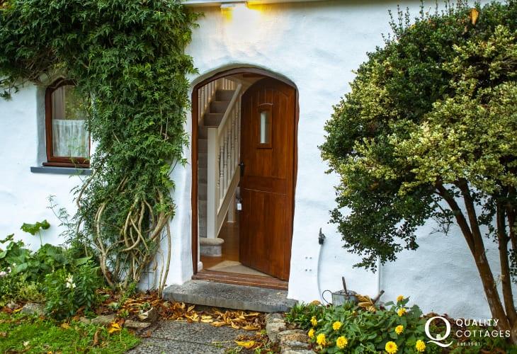 Front door at Wisteria Lodge