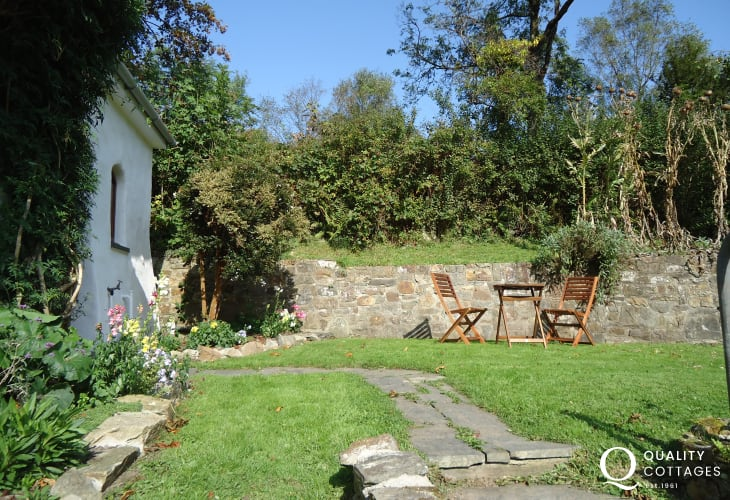 Garden for Wisteria Lodge holiday cottage in Gwaun Valley