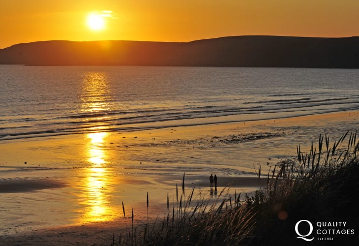 Newgale's 3 miles of golden sands is a must visit