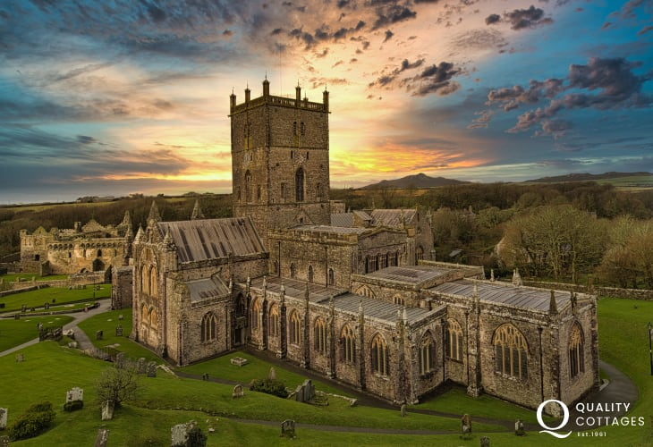 The stunning Cathedral at St Davids is only a short drive away