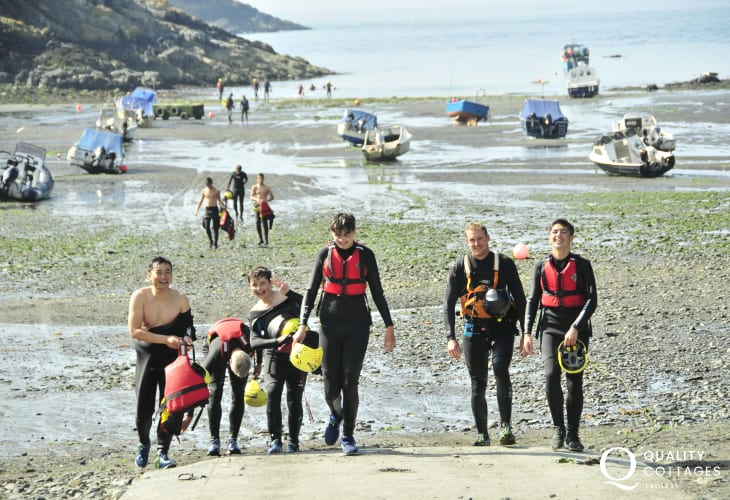 Coasteering trips are great fun and available along the North Pembrokeshire coast around St Davids