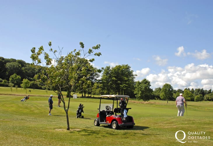 Pembrokeshire has has a wide variety of championship golf courses to choose from - Priskilly and St Davids are both nearby