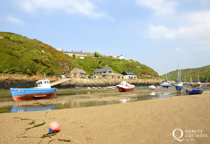 Solva River - at low tide walk round to the sheltered Gadwan Cove popular with sun worshipers
