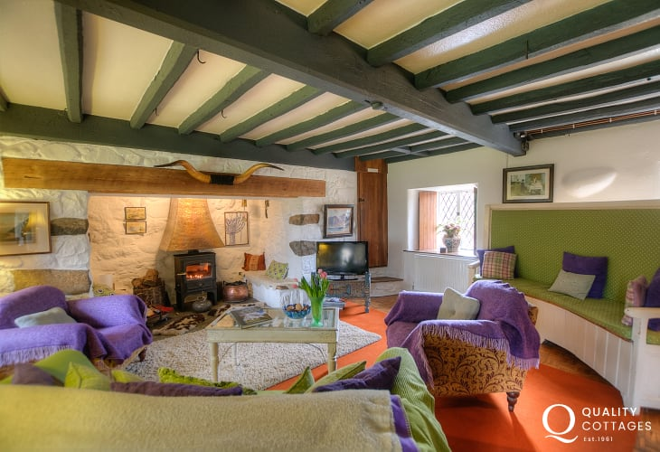 Pet friendly Luxury cottage north Wales-lounge