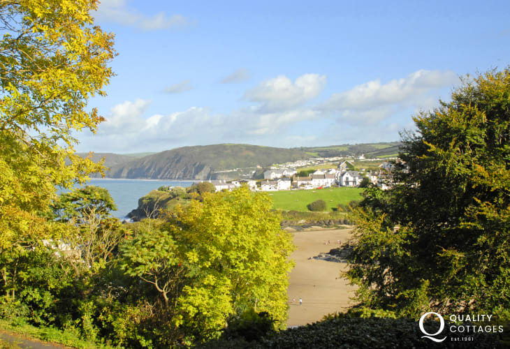 Stunning sea views from the terrace and lounge over the two sandy beaches at Aberporth to Tresaith
