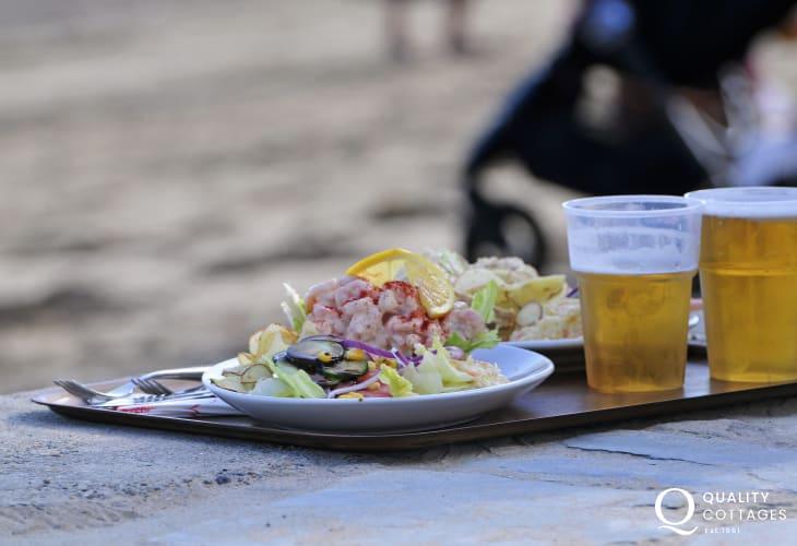 Lunch on the beach Morfa Nefyn