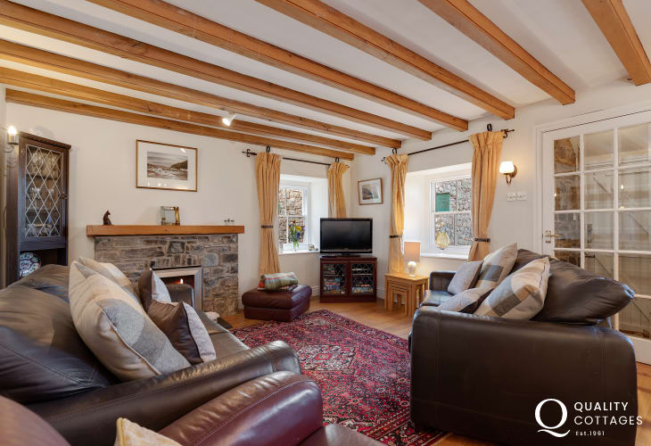 Living room of Mary Cottage in St Davids, Pembrokeshire