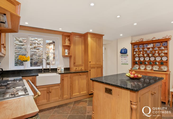 Modern kitchen inside a home in St David's