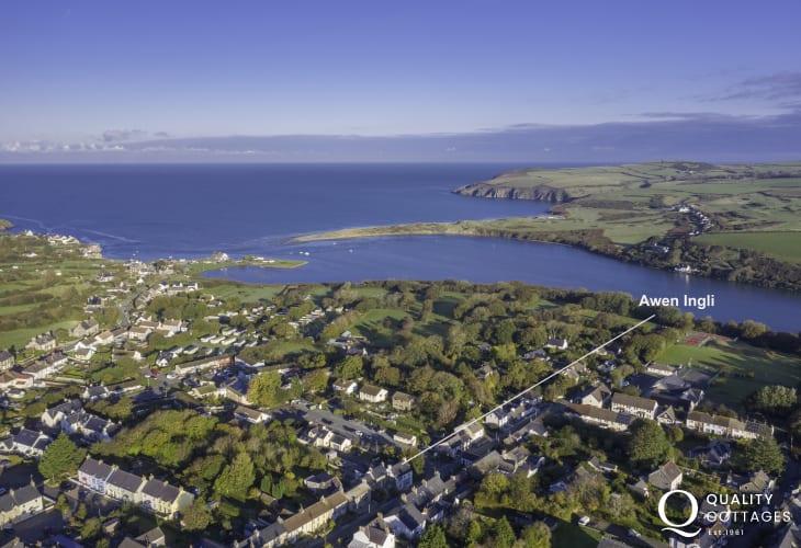 Aerial View of Awen Ingli in Newport Pembrokeshire