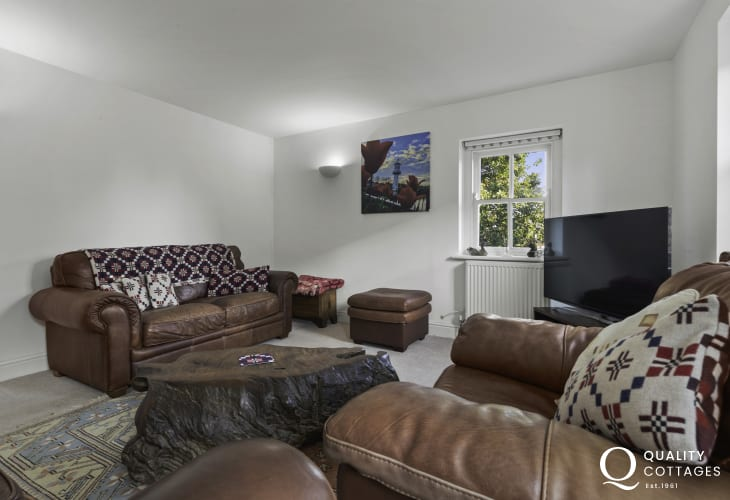 Cosy living room with smart TV in Newport, Pembrokeshire