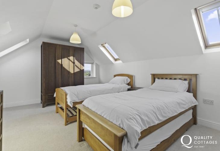 Twin bedroom on second floor