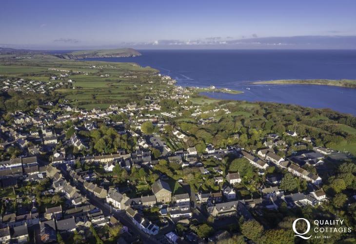 Aerial View of Newport Pembrokeshire