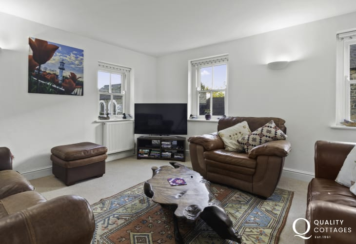 Stylish living room in Pembrokeshire holiday cottage