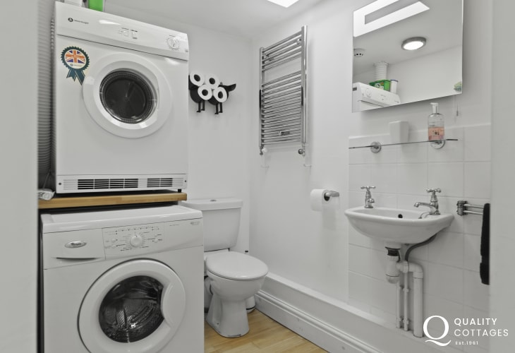 Shower room on first floor with washing machine and tumble dryer