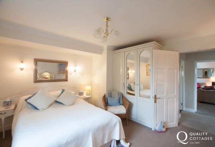Portmerion Fron Cottage Master bedroom North Wales