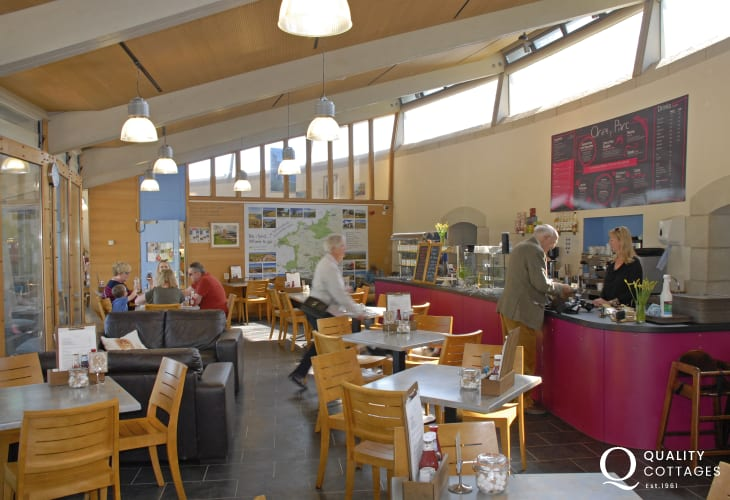 'Oriel y Parc Cafe' in the National Park Visitor Centre nearby is excellent for breakfast, lunch, drinks and cakes