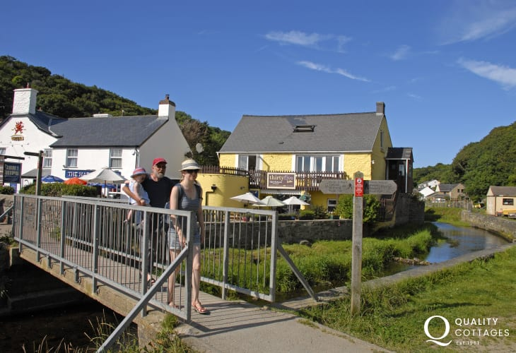 Try 'Number 35' by the Solva River - great breakfasts or 'fish & Chips' later in the day!