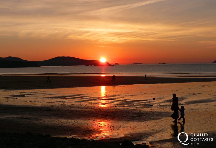 Watch the sunset over Ramsey Island from Whitesands - the perfect way to end a day