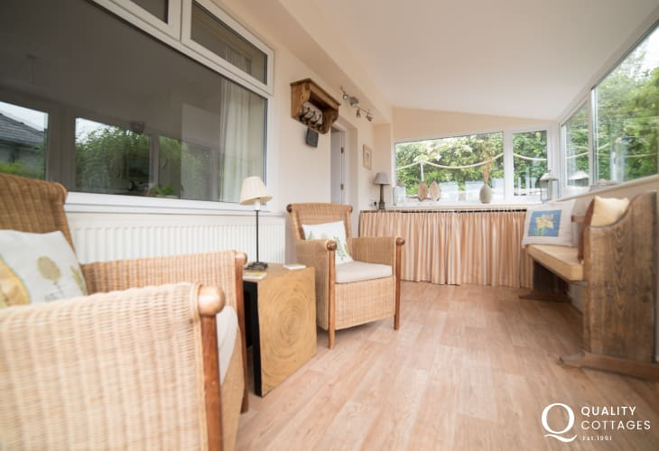 Harlech holiday cottage - conservatory