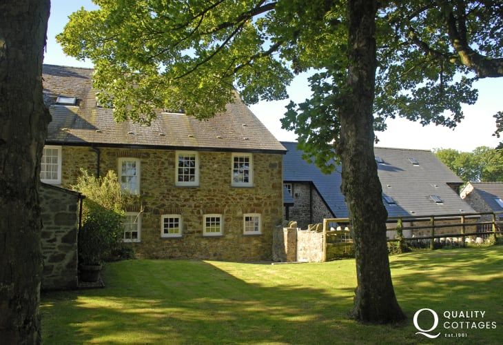 West wing of Lochturffin Manor, North Pembrokeshire