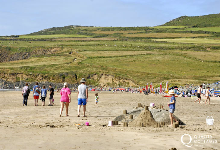 Whitesands Beach (Blue Flag) - popular with surfers and families