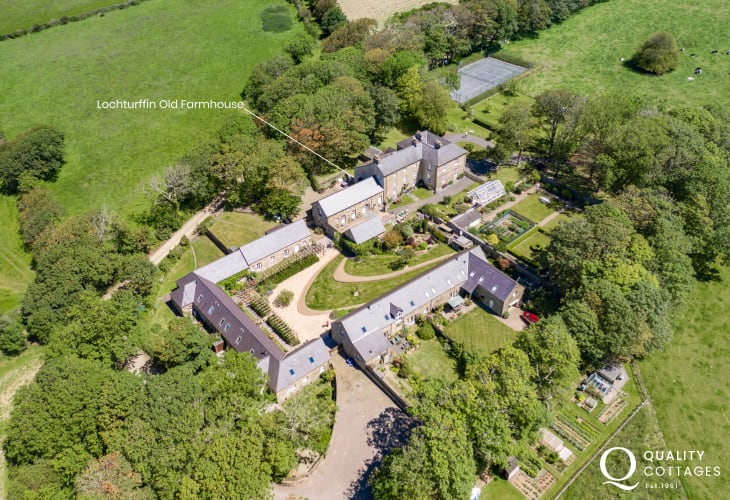 St Davids holiday home aerial view