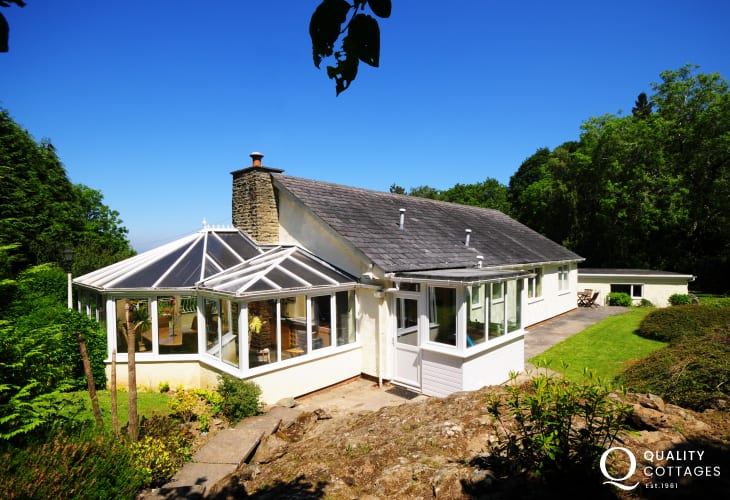 Conservatory at Anglesey home