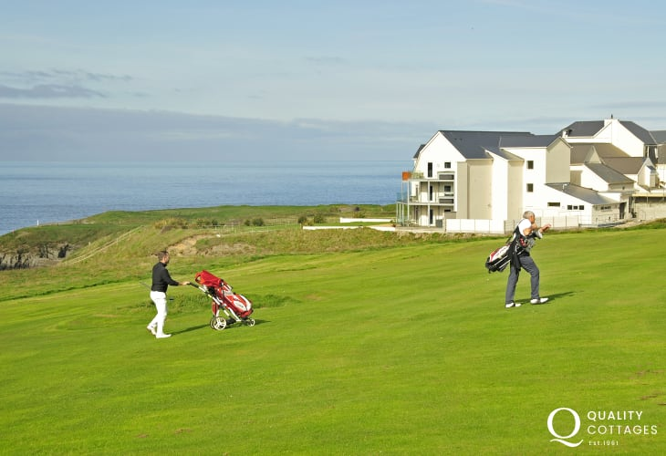 Enjoy a round of golf at the The Cliff Hotel and Spa, Gwbert