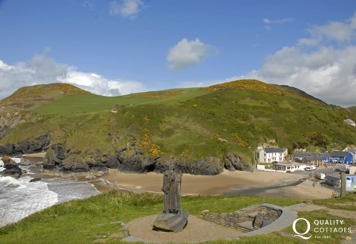 Cardigan Heritage Coastal Path above the seaside village of Llangrannog