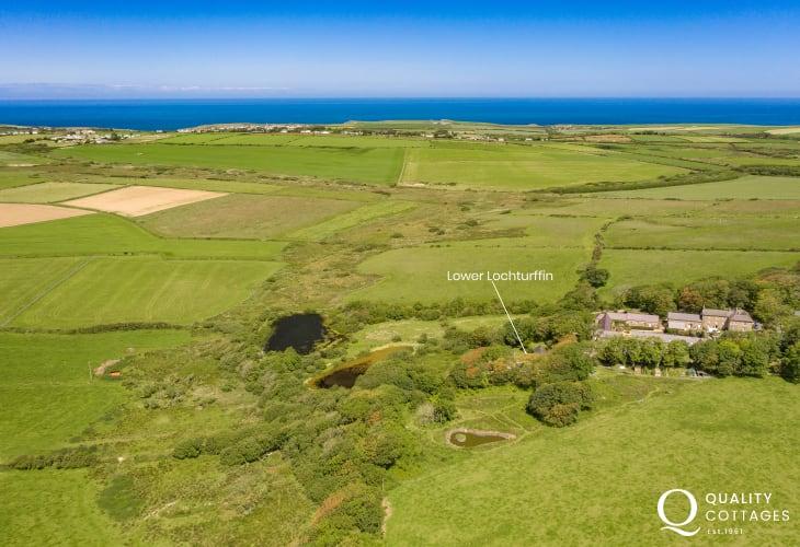 Luxury Pembrokeshire barn location view