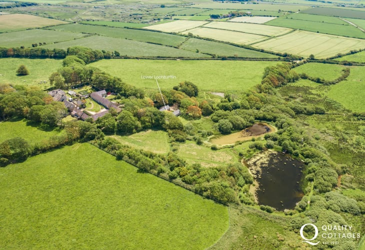 Rural retreat North Pembrokeshire aerial location