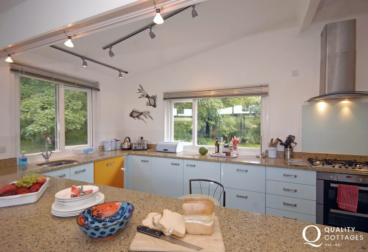 Self-catering Druidston modern home with stylish fitted kitchen