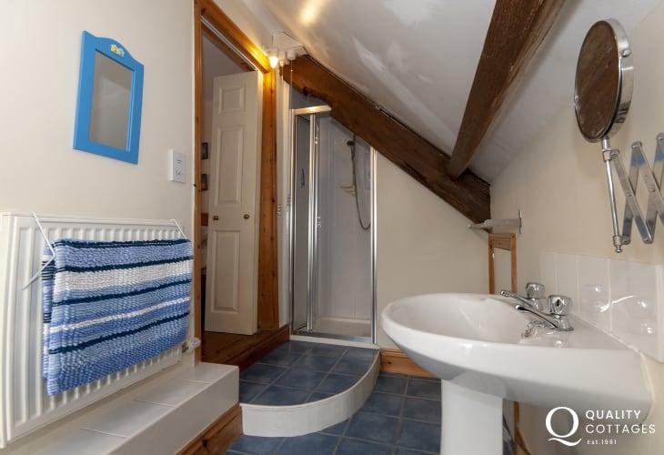 Pembrokeshire holiday cottage - twin en-suite bathroom