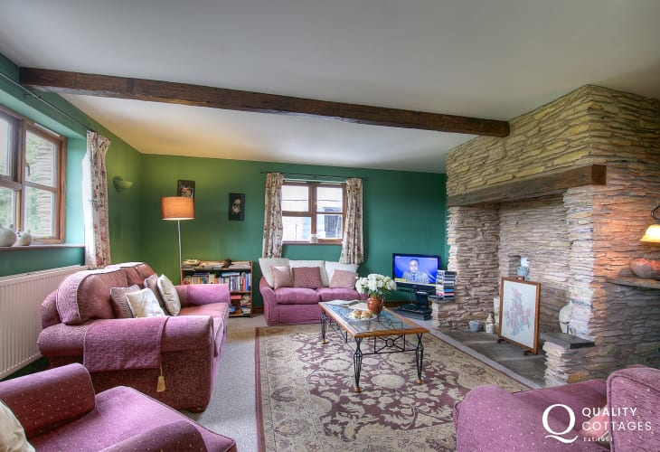Llandovery rural countryside holiday cottage  - lounge with TV/DVD player.