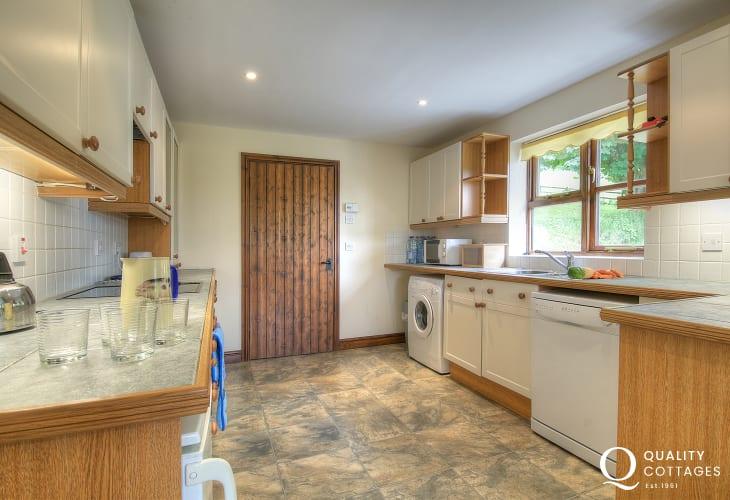 Holiday cottage near Llandovery and Llandeilo, Carmarthenshire- kitchen