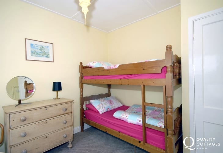 St Davids Peninsula holiday home - children's bunk room