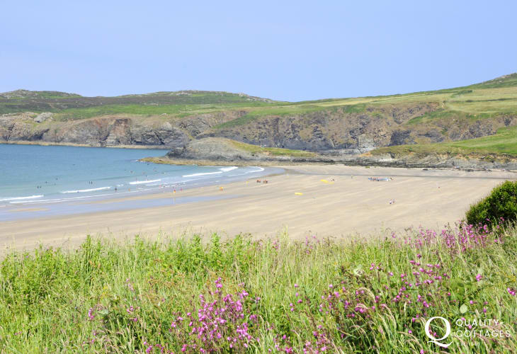 Whitesands Bay (Blue Flag) - a spectacular golden sandy beach popular with water sport enthusiasts